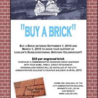 Commemorative Bricks on Sale Now!