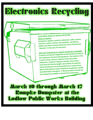 Electronics Recycling Event--March 10th - 17th