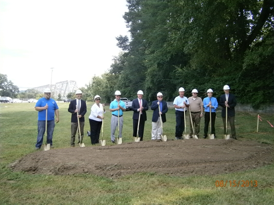 The City breaks ground on new Public Works building.