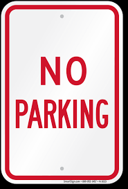 No Parking Behind Hollingsworth Field
